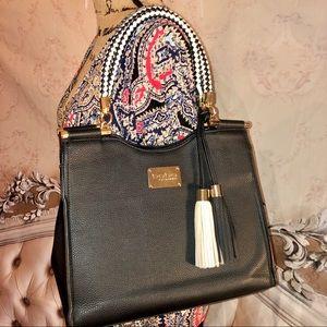 Bebe Vegan Leather Tassels Shoulder Bag